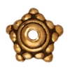 Bead Cap Beaded Star 9mm Antique Gold